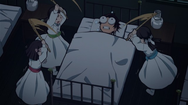 Demon Slayer Kimetsu No Yaiba Episode 25 Tanjiro beaten for Stopping Total Concentration Constant while sleeping
