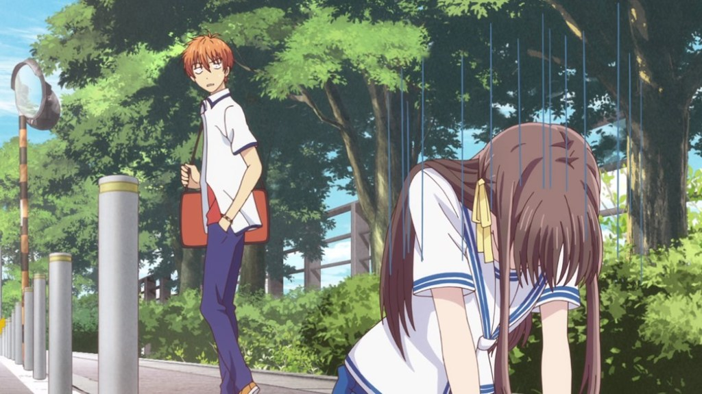 Fruits Basket Episode 23 Tohru hates to let people down with Kyo