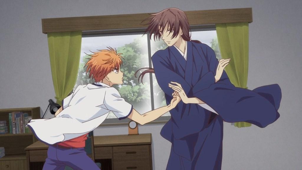 Fruits Basket Episode 24 Kyo and Shisho Reunited