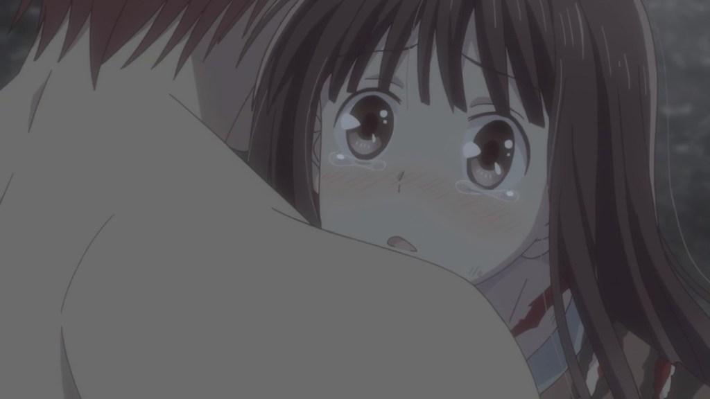 Fruits Basket Episode 24 Kyo hugs Tohru