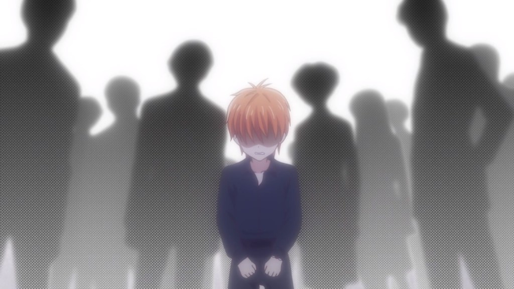 Fruits Basket Episode 24 Young Kyo after his mother's death