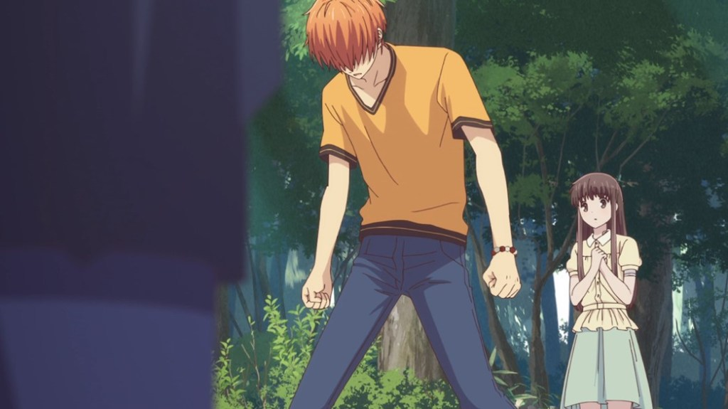 Fruits Basket Episode 25 Kyo upset that Kazuma would leave without saying anything