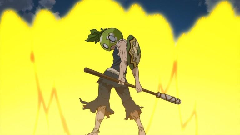 Dr Stone Episode 13 Kinro catches the Melon Helmet