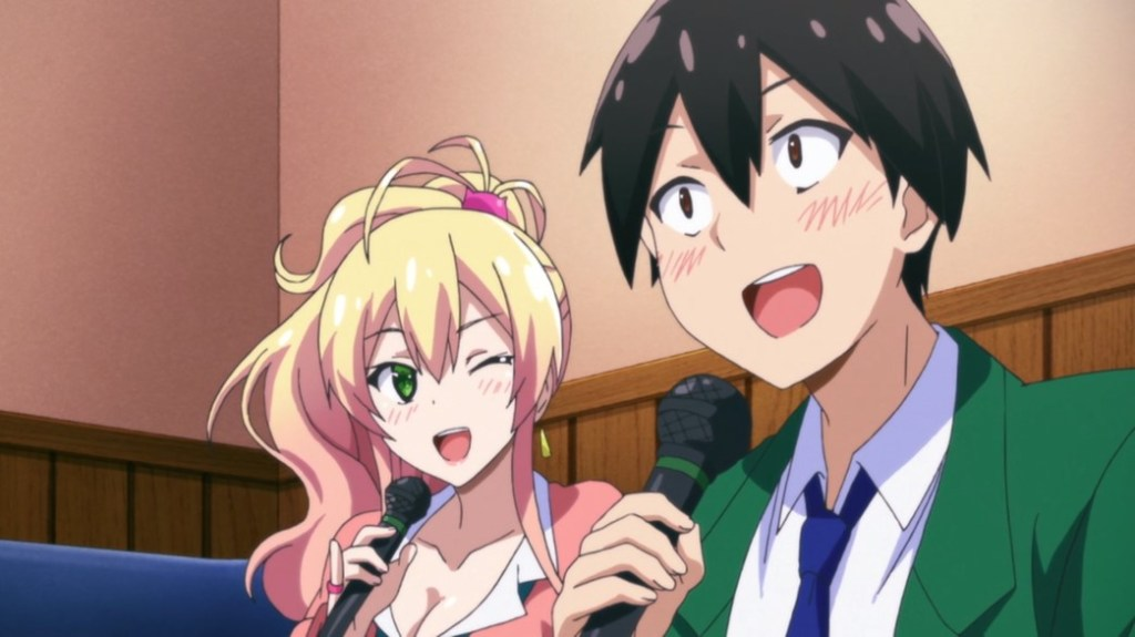 My First Girlfriend Is A Gal Junichi and Yukana do Karaoke
