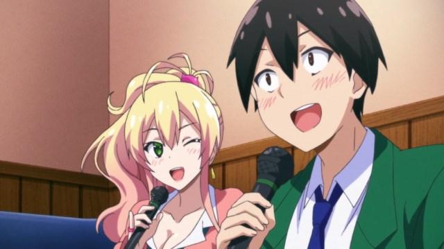 My First Girlfriend Is A Gal Junichi and Yukana do Karaoke