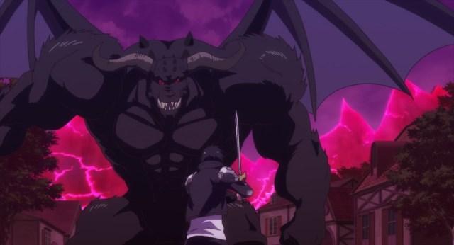 Cautious Hero Episode 2 Seiya Versus Chaos Machina Greater Demon Form