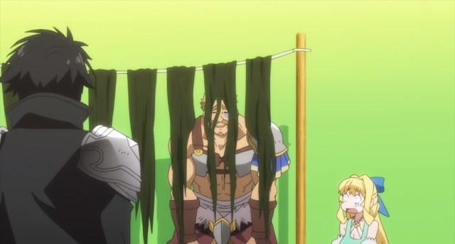 Cautious Hero Episode 3 Cerceus hiding from Seiya