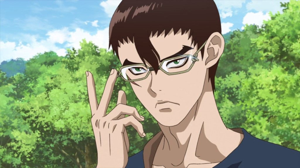 Dr Stone Episode 18 Kinro with Glasses