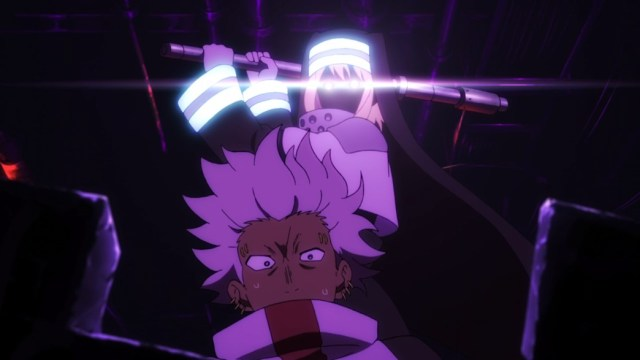 Fire Force Episode 19 Iris takes out the Distracted Assault