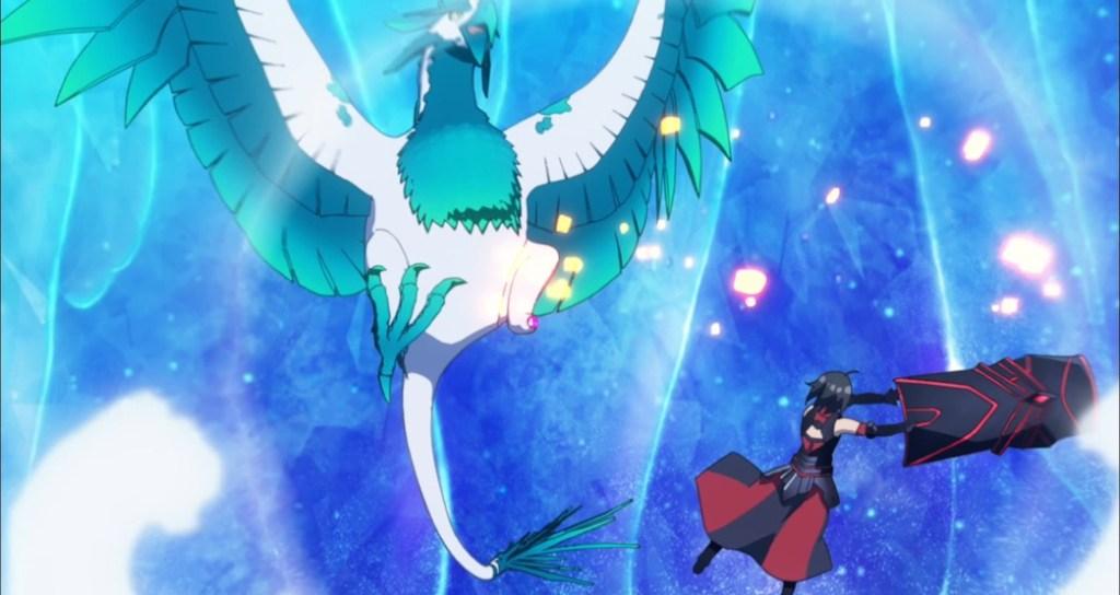 BOFURI Episode 4 Maple hitting the Undefeatable Silverwing