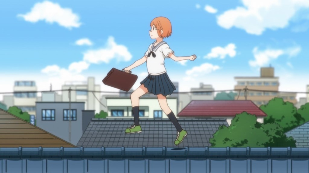 Chio's School Road Episode 1 Chio on the Rooftops