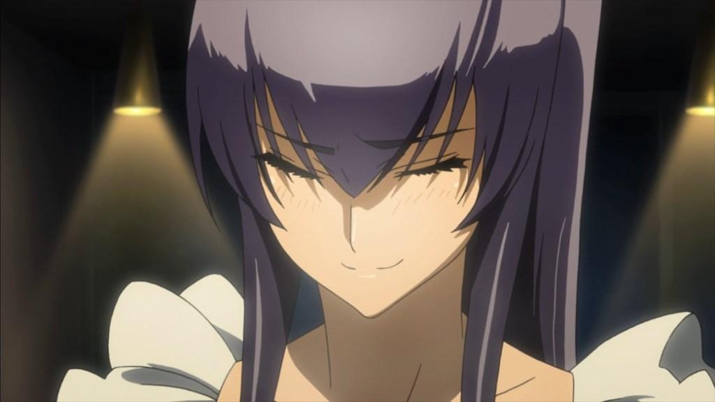 Highschool of the Dead Episode 6 Saeko Apron Smirking