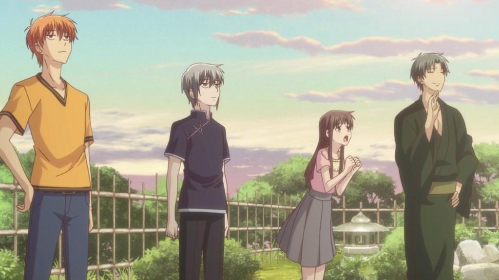 Fruits Basket Episode 19 Kyo Yuki Tohru and Shigure