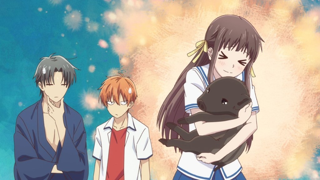 Fruits Basket Episode 4 Kagura Soma in her Animal Form with Tohru