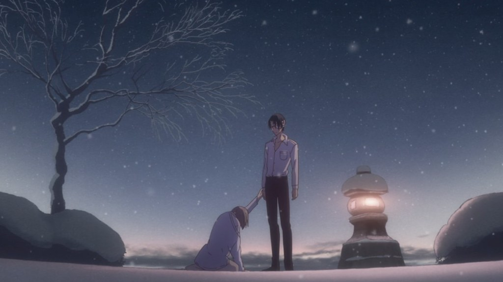 Fruits Basket Episode 7 Hatori about to wipe Kana's memories