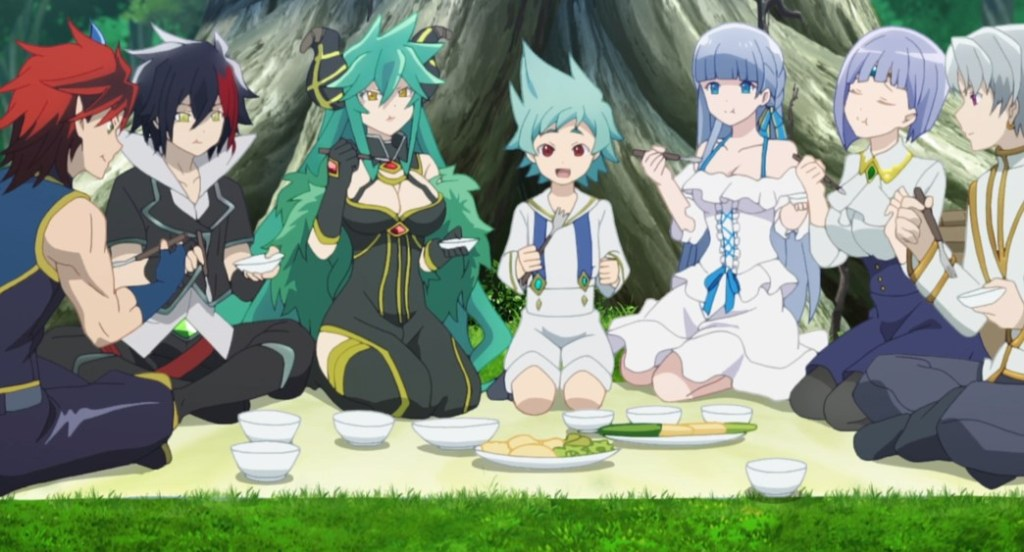 Shironeko Project ZERO Chronicle Episode 7 Black and White enjoying a Meal together