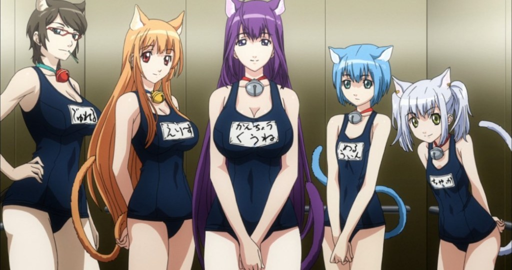 Cat Planet Cuties Episode 3 Swimsuit boobs