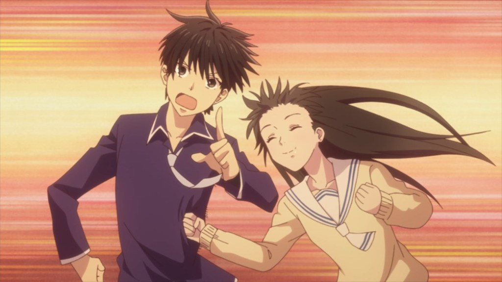 Fruits Basket Episode 47 Kimi catching Kakeru with a sucker punch