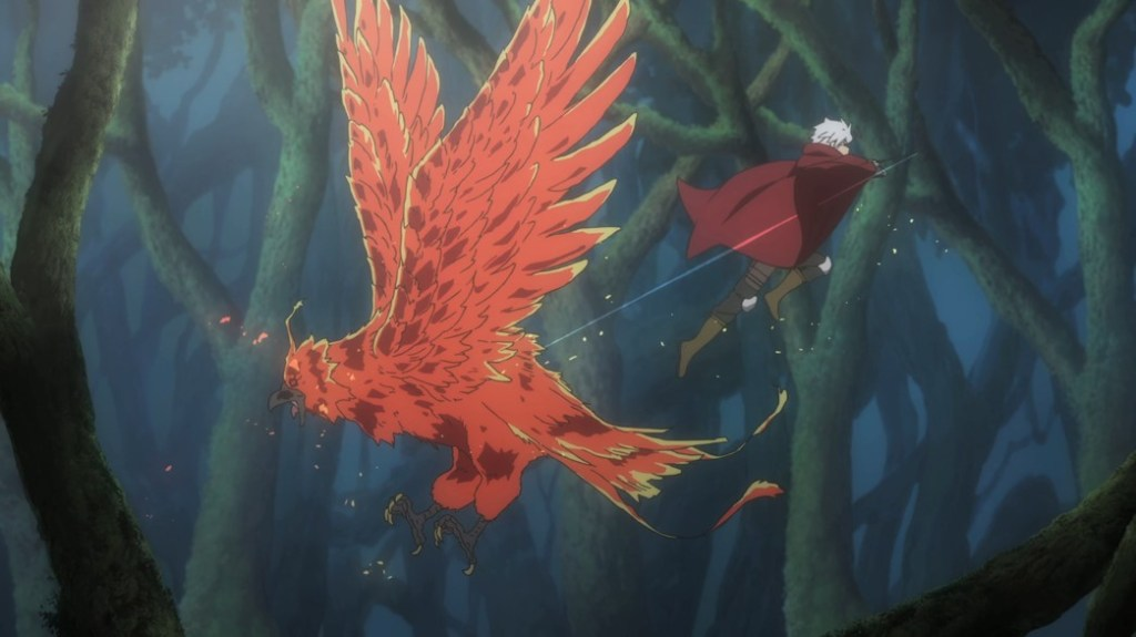 Is It Wrong To Try To Pick Up Girls In A Dungeon III Episode 1 Bell fighting a Pheonix