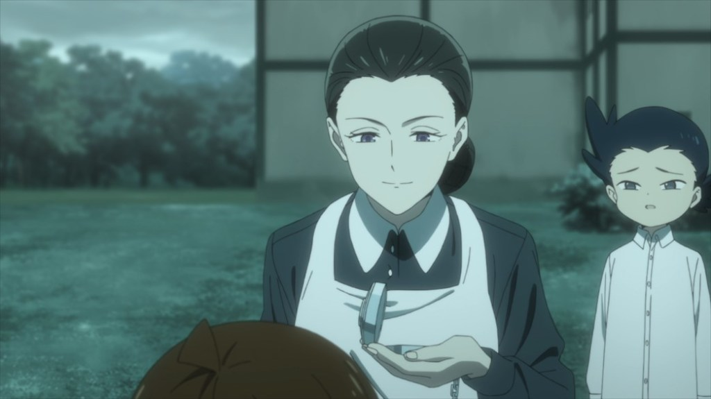 The Promised Neverland Episode 2 Mother checking her Pocket Watch