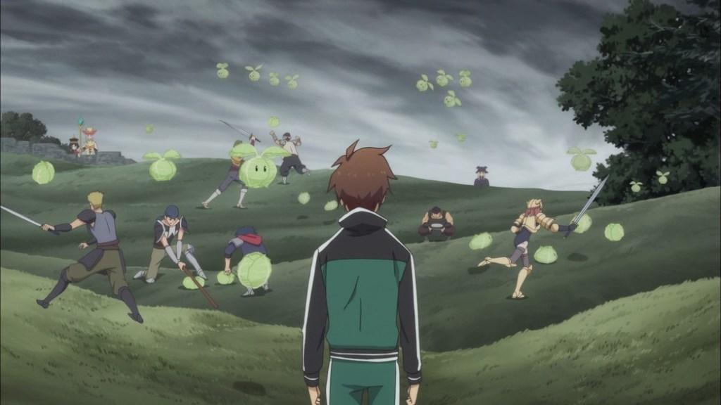 KonoSuba Episode 3 Kazuma Cabbages Attack