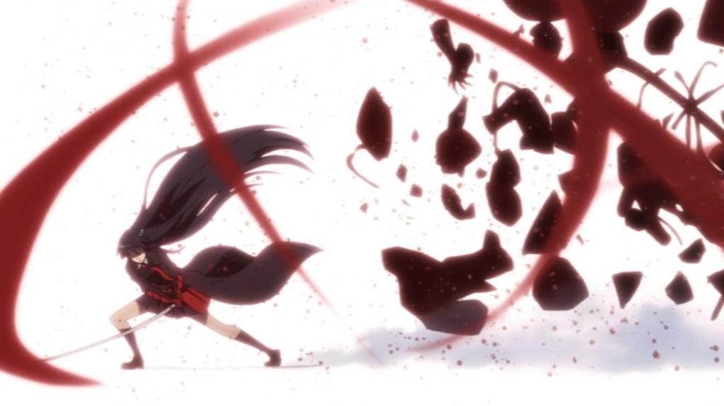Akame ga Kill Episode 22 Akame destroys Kurome's Puppets