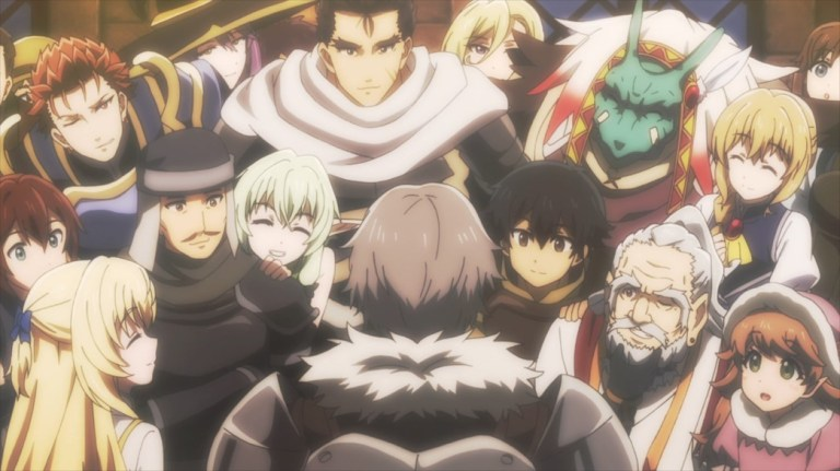 Goblin Slayer Episode 12 Everyone looking at Goblin Slayer's face