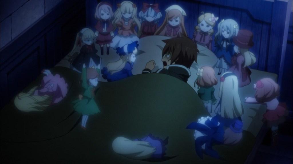 KonoSuba Episode 8 Kazuma surounded by spirits
