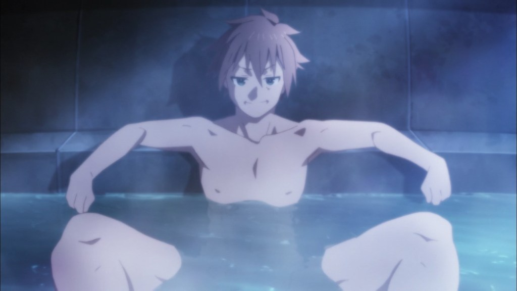 KonoSuba Episode 9 Kazuma in the Bath