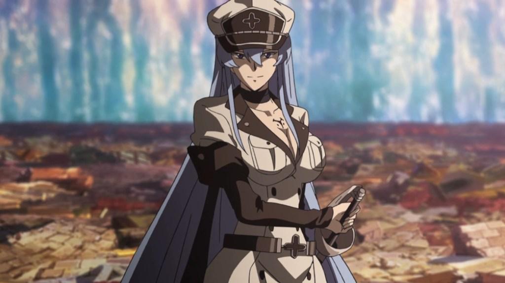 Akame ga Kill Episode 24 Esdeath fighting