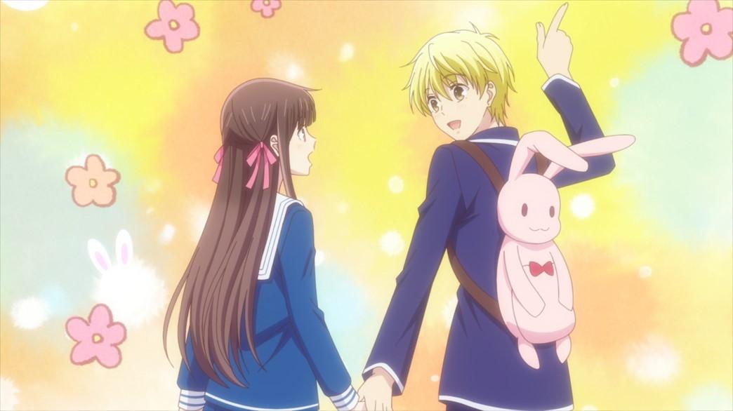 Fruits Basket Episode 55 Tohru and Momiji