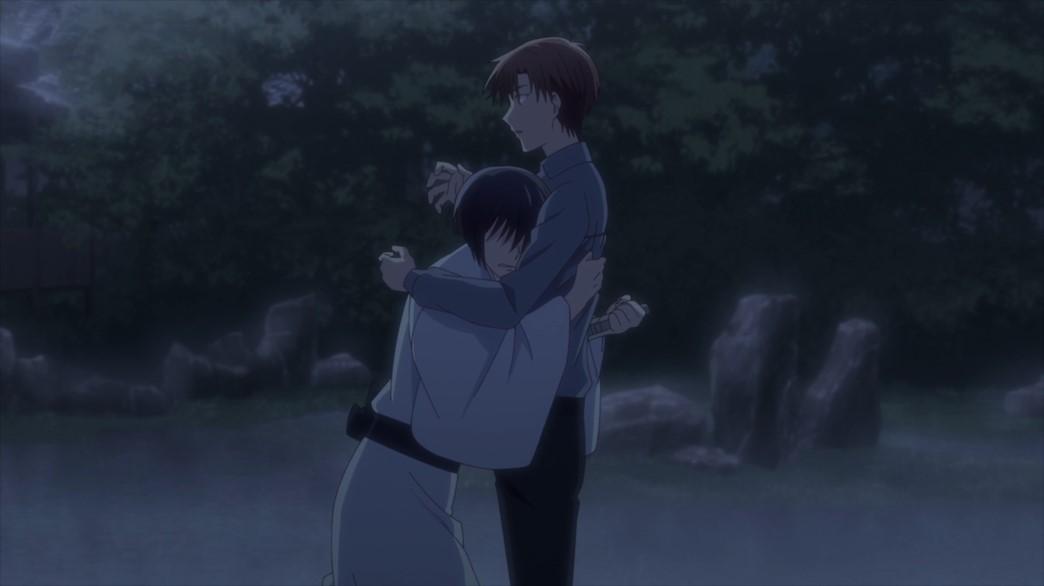 Fruits Basket Episode 57 Akito stabs Kureno