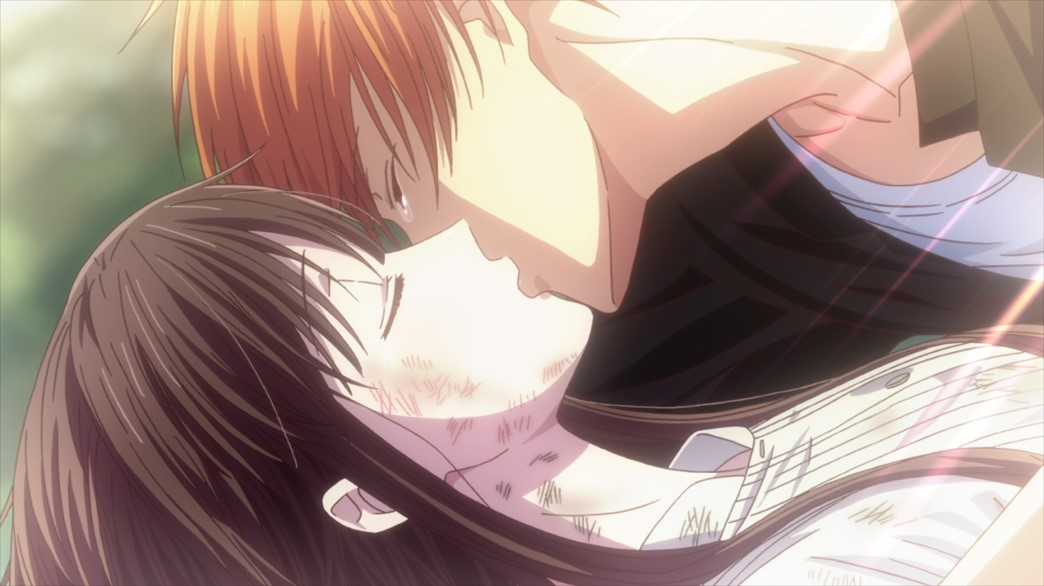 Fruits Basket Episode 59 Tohru and Kyo kiss
