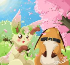 Seasons_of_Saria___Spring_by_BehindtG