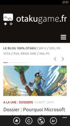 Application Windows Phone et Android Otakugame.fr !