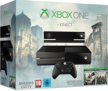 Pack Xbox One avec Assassin's Creed Unity et Kinect