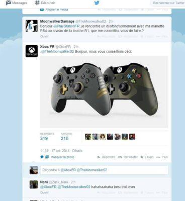 @XboxFR troll la manette PS4