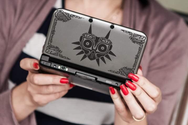 Un joli decal Majora's Mask pour 3DS XL !