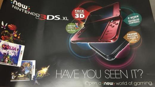 La new 3DS rouge disponible le 13 février aux USA !
