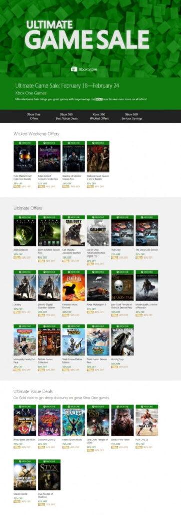 Ultimate Game Sale Leak (fevrier 2015)