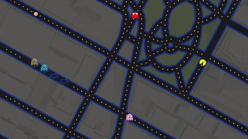 Jouer à Pac Man sur Google Maps ? Poisson d'avril ! Ou pas...