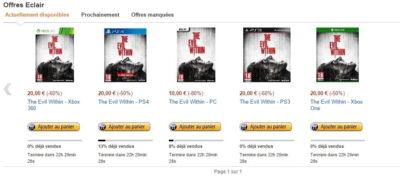 The Evil Within en vente flash à 20€ (et même 10€ sur PC) !