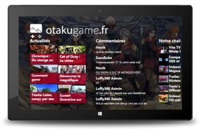 Otakugame.fr sur Windows 8.1, c'est la classe non ?