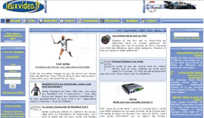 Le site, lors de sa création en 2002.