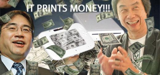 Et oui. La Wii U peut imprimer des billets !