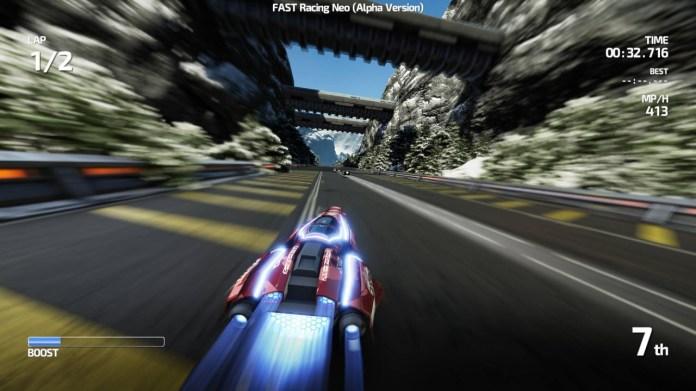 Des images ingame de Fast Racing Neo
