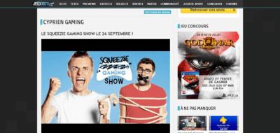 Cyprien a grandement participé à la renommée du site JeuxActu.com