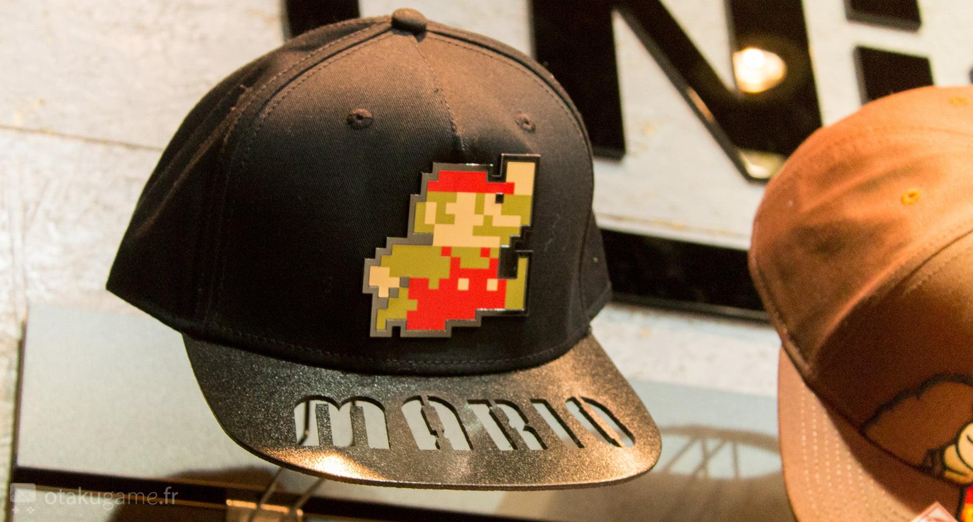 La casquette Mario gravée dans la visière