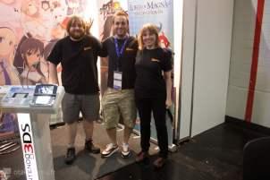 De gauche à droite : Michael Fisher, Comunity Manager, Jonathan Nevill, Product Manager et Jenny Martin Alvarez, Marketing Manager !