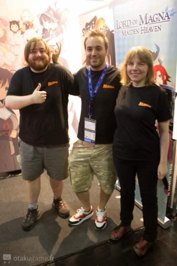 Toute l'équipe de Marvelous Games était là pour informer les joueurs !